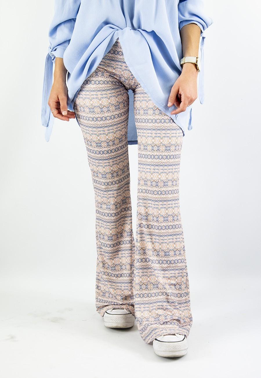 Pantalón sirio campana azul