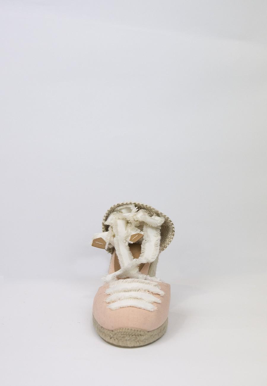 Alpargata coralia rosa palo cuña