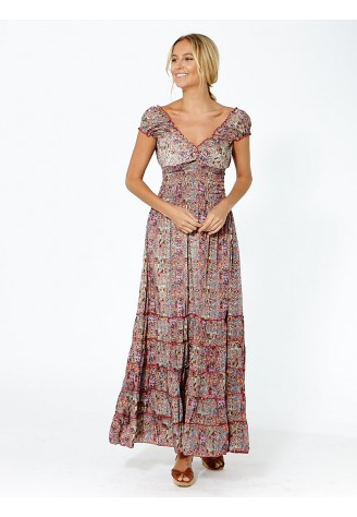 Vestido Largo Milos Beige