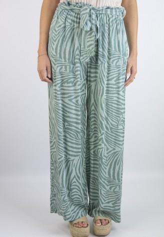 Pantalón Cebra Verde