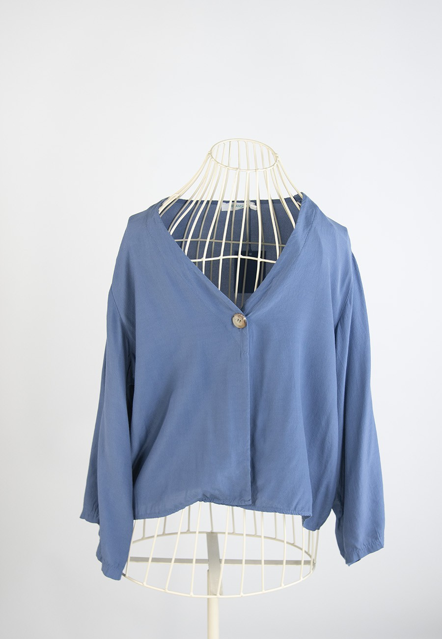 Blusa Vernazza azul