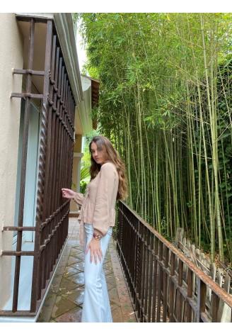 Blusa Borneo beige