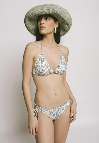 Bikini leopardo azul