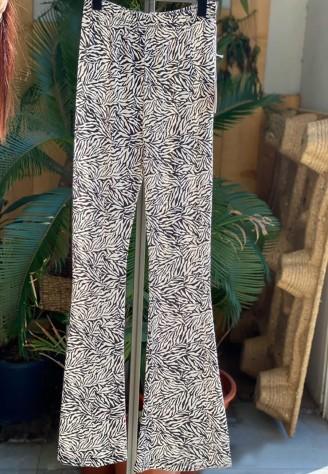 Pantalón de licra con estampado de cebra