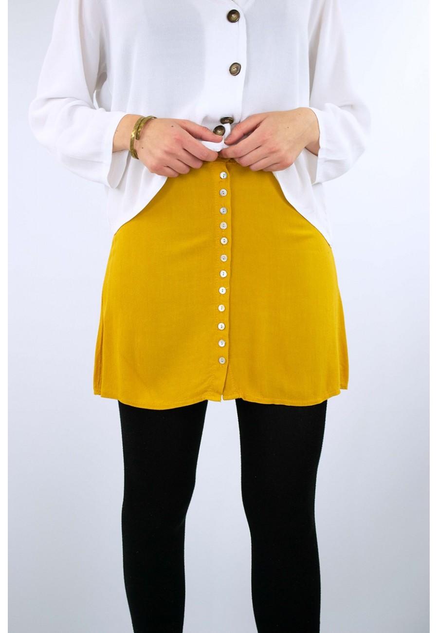 Falda corta botones